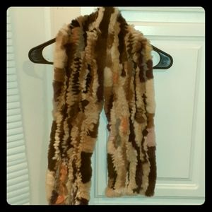 Geourgious Rabbit Fur Scarf
